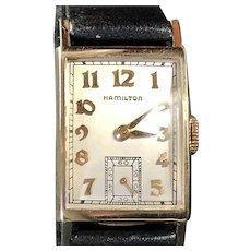 1947 HAMILTON USA 'Brock' 14K Gold Gents Dress Watch