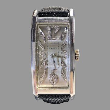 1947 Longines Deco Diamond Vintage Men's Watch—Rare