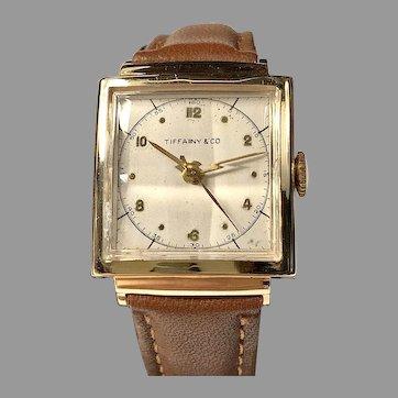 Tiffany & Co Movado Men;s 14K Solid Gold 17 Jewel