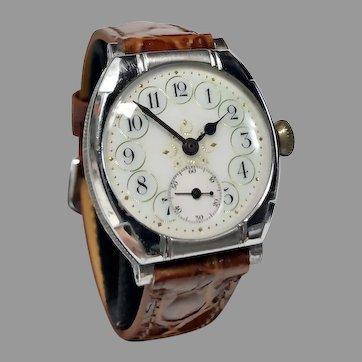 1911 Elgin Fancy Dial Wristwatch