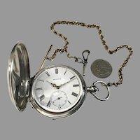 1898 QTE Tobias Silver Pocket Watch