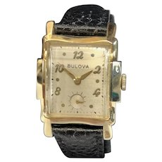 1952 Bulova Wembley 14K Gold Watch
