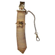 Antique Gold Filled Multi-Chain Fob Vest Pocket Watch Chain