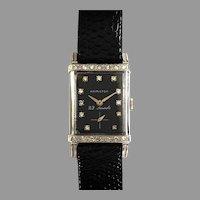 Hamilton 14K Art Deco Diamond Dress Watch