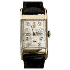 1948 Longines Streamline Moderne Diamond Vintage Watch