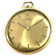 1950 Cartier-Concord 14K gold Pocket Watch