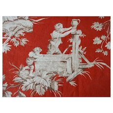 Vintage Toile Fabric - Waverly