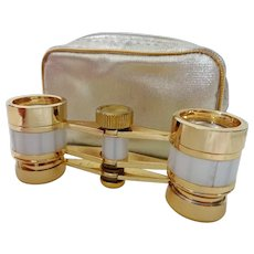 Vintage Opera Glasses Binoculars in Case
