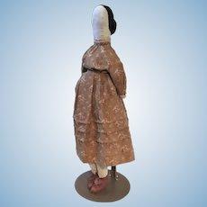 Rare 19th C American Mennonite Cloth Doll