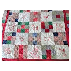 Vintage Child's Quilt Wall Hanging
