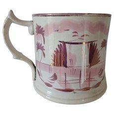 Old Victorian Pink Luster Mug