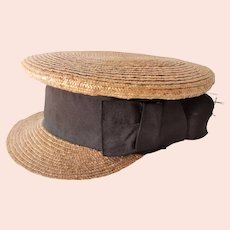 Old Hand Woven Straw Cap