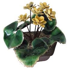 Old Enamel Primrose Flower Pot