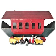 Old Noah's Ark Toy Chest and Animals