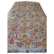 Antique Crewel Embroidery Bedspread