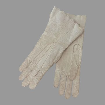 Victorian Doll's Kid Leather Gloves