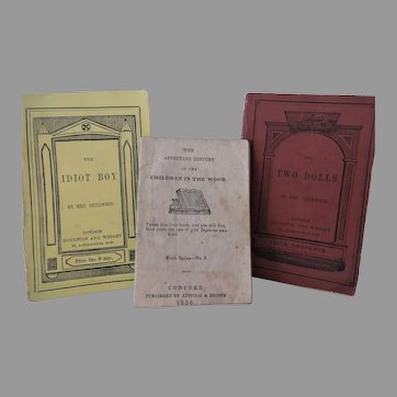 19th Century Children's Penny Book Collection