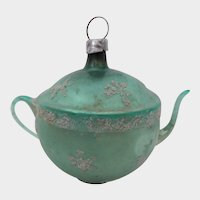 Old Glass Teapot Christmas Ornament