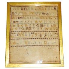 Antique ABC Alphabet Sampler