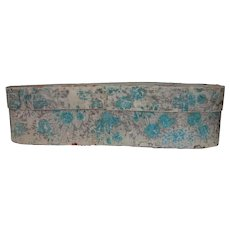 Antique Large Wallpaper Covered Box