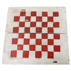 Old Checkers Game Board