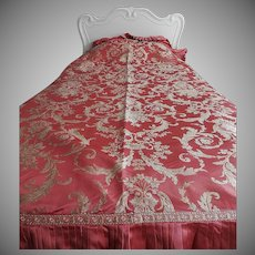 Silk Brocade Bedspreads - Pair