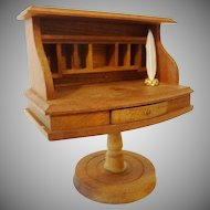 Vintage Shackman Pigeon Hole Desk w Feather Pen