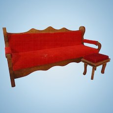 Vintage Shackman Living Room Sofa and Foot Stool