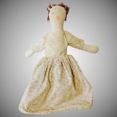 Old Topsey Turvy Cloth Doll with Clothes