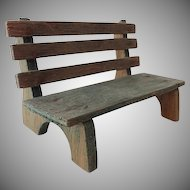 Old Doll House Garden Bench