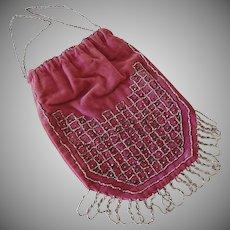 Old Velvet Beaded Bag