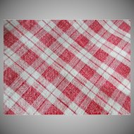 Old Homespun Fabric Table or Pillow Cover