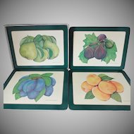 Vintage Harrod's Table Mats and Coasters Set