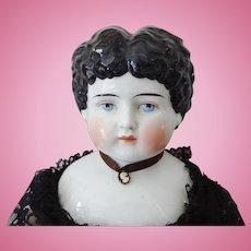 Antique Victorian China Head Doll