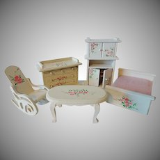 Doll House Painted Bedroom Set