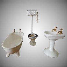 Shackman Doll House Bathroom Set