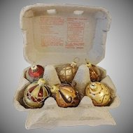 Gold and Jewel Glass Egg Ornaments