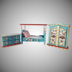West Germany Doll House Bedroom Set