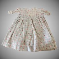 Antique Dolls Dress Circa 1860-1870s