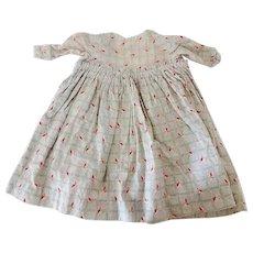 Antique Dolls Dress Circa 1860-1870s