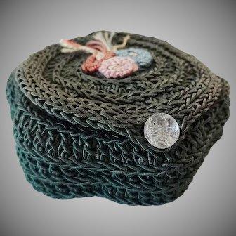 Old Crochet Mending Sewing Kit