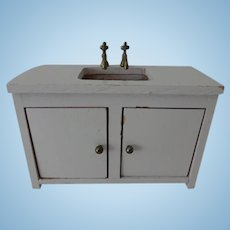 Vintage Doll House Sink and Cabinet
