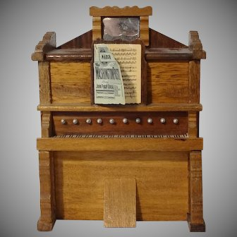 Old Doll House Upright Piano Organ Music Box
