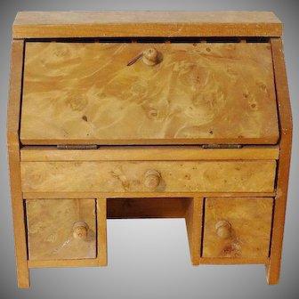 Old Doll House Burl Drop Front Desk
