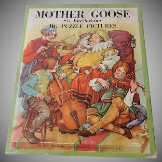 Old Mother Goose Interlocking Six Jig Puzzles
