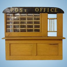 Doll House Room Post Office Counter and Mail Boxes