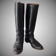 Vintage Leather Riding Boots with Shoe Forms