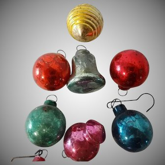 Old Miniature Glass Christmas Ornaments Collection