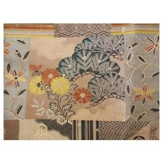Old Japanese Silk Brocade Fabric