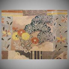 Old Japanese Silk Brocade Fabric